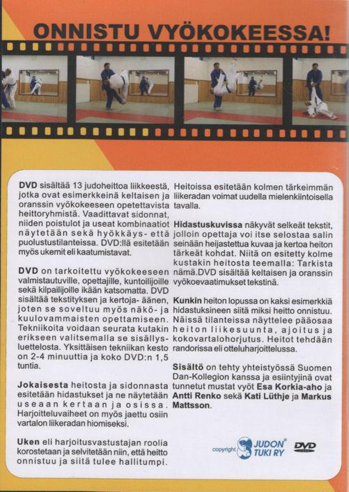 Onnistu vyökokeessa DVD, judo, keltainen ja oranssi-101